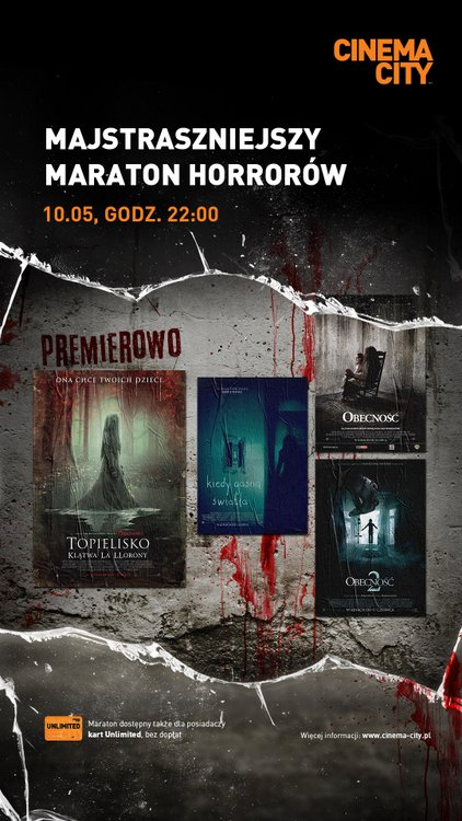 maraton horrorów, Cinema City 2019